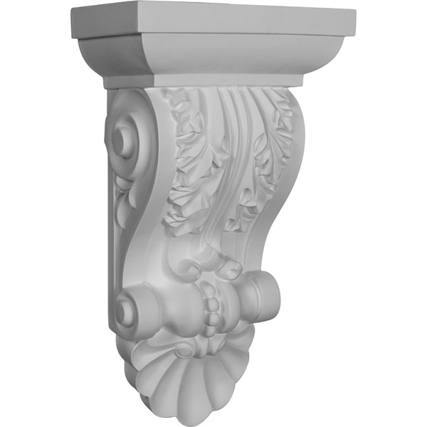 "8 1/2""W x 5""D x 14 1/2""H Acanthus with Shell Corbel"