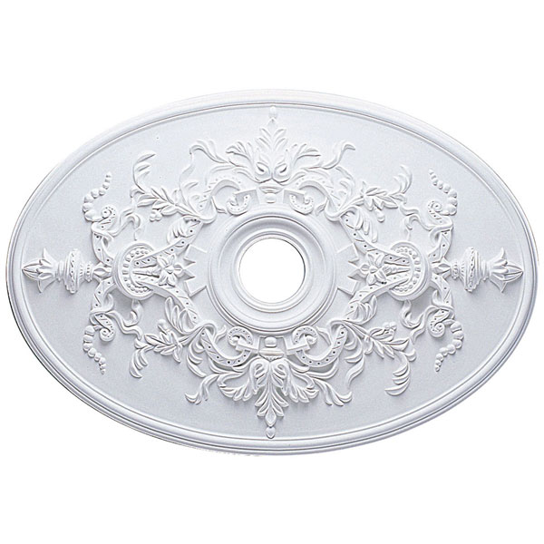 "21 1/4""W x 30 3/4""H x 3 7/8""ID x 1 5/8""P Alexa Ceiling Medallion (Fits Canopies up to 5 5/8"")"