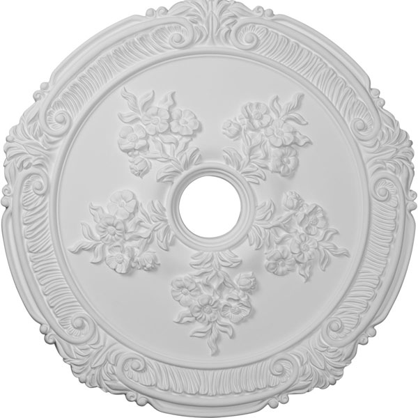 "26""OD x 3 3/4""D x 1 1/2""P Attica with Rose Ceiling Medallion (Fits Canopies up to 4 1/2"")"