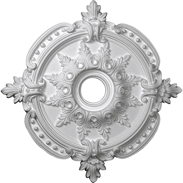 "28 3/8""OD x 3 3/4""ID x 1 5/8""P Benson Classic Ceiling Medallion (Fits Canopies up to 6 1/2"")"