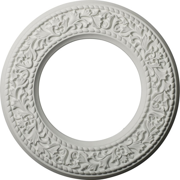 "13 3/8""OD x 7 1/2""ID x 3/4""P Blackthorn Ceiling Medallion (Fits Canopies up to 7 1/2"")"