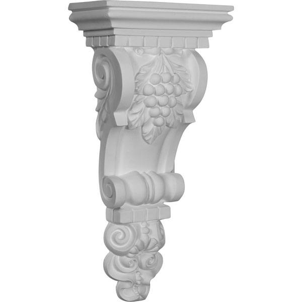 "6 3/4""W x 3 1/2""D x 13 3/4""H Grape Bunch Corbel"
