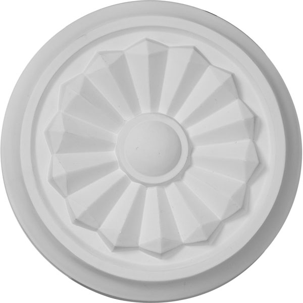 "7 7/8""OD x 1 1/8""P Olivia Ceiling Medallion (Fits Canopies up to 2 1/8"")"
