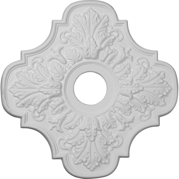 "17 3/4""OD x 3 1/8""ID x 1""P Peralta Ceiling Medallion (Fits Canopies up to 4 5/8"")"