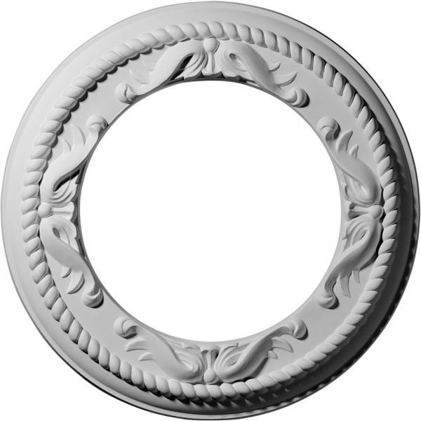 "12 1/4""OD x 7 1/2""ID x 7/8""P Roped Medway Ceiling Medallion (Fits Canopies up to 7 1/2"")"