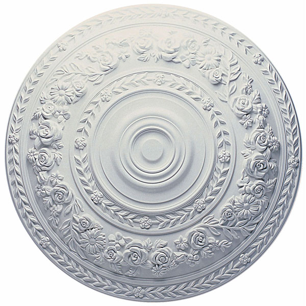 "33 7/8""OD x 2 3/8""P Rose Ceiling Medallion (Fits Canopies up to 13 1/2"")"