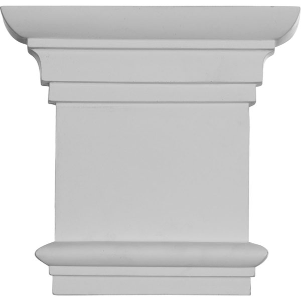 "8 1/4""W x 7 7/8""H Traditional Capital (Fits Pilasters up to 5 3/8""W x 3/4""D)"