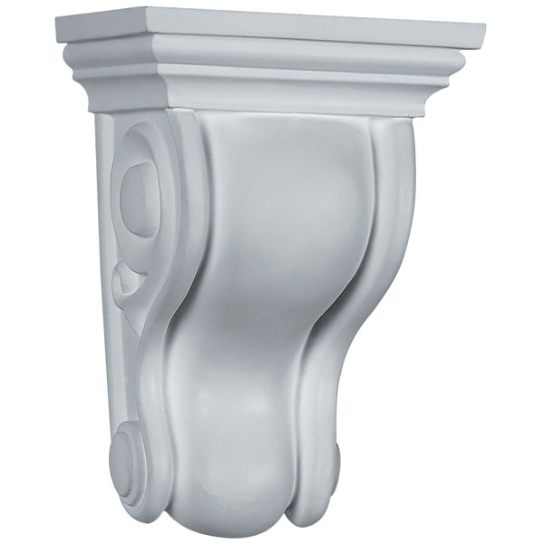 "4 3/4""W x 3 1/2""D x 6 3/4""H Traditional Curved Corbel"