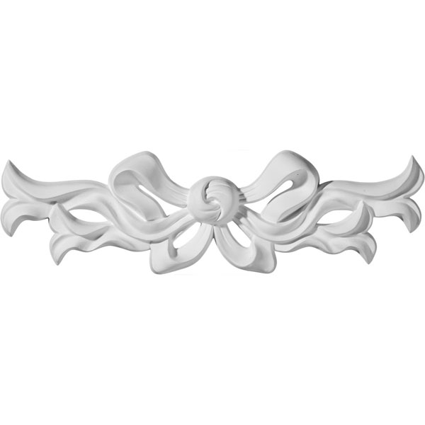 "9 1/4""W  x 3""H x  3/4""P Versailles Small Ribbon with Bow Center Onlay"