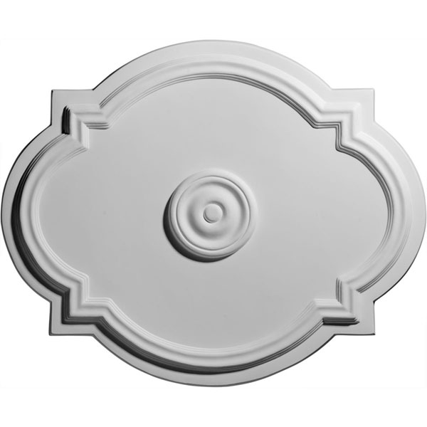 "21 1/4""W x 17 3/8""H x 1""P Waltz Ceiling Medallion (Fits Canopies up  to 4 1/2"")"
