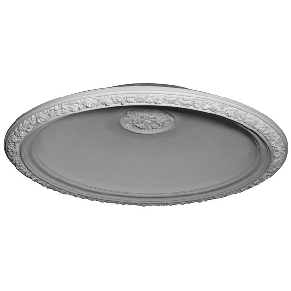 "59""OD x 47""ID x 11""D Floral Recessed Mount Ceiling Dome (53"" Diameter x 12""D Rough Opening)"