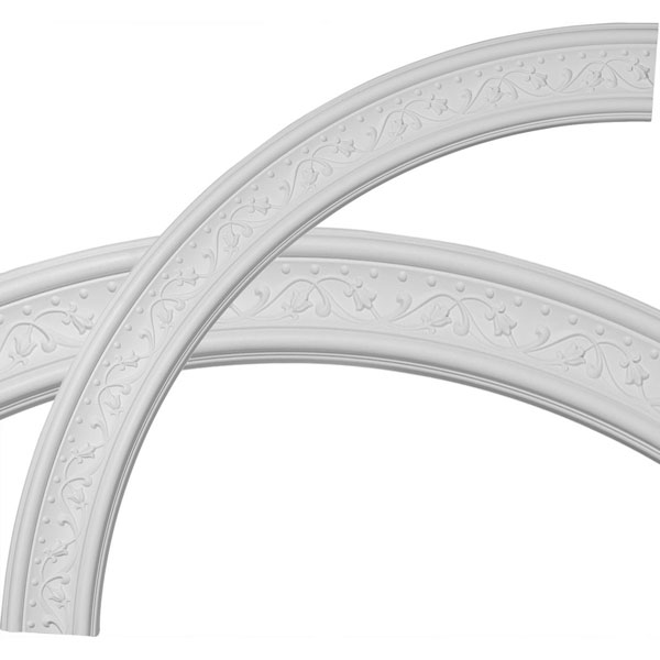 "51""OD x 43""ID x 4""W x 7/8""P Marcella Ceiling Ring (1/4 of complete circle)"