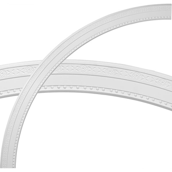 "59 1/2""OD x 53""ID x 2 3/4""W x 1/2""P Tralee Ceiling Ring (1/4 of complete circle)"