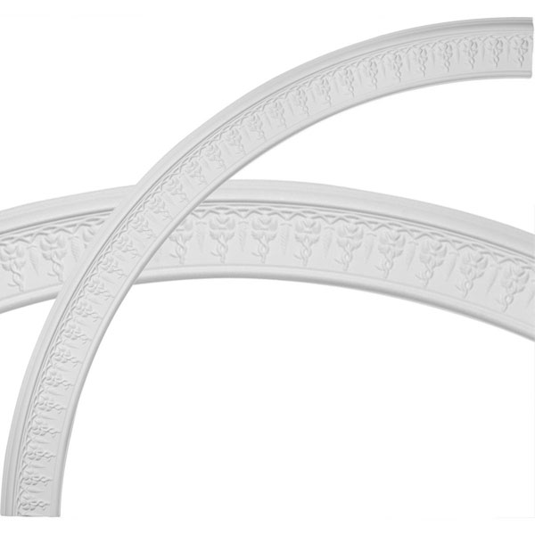 "79 1/2""OD x 70 1/4""ID x 4 5/8""W x 1 1/8""P Spiral Ceiling Ring (1/4 of complete circle)"