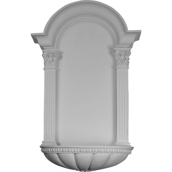 "27 1/2""W x 42 1/4""H x 9""D, Egg and Dart Fluted Niche, Surface Mount"