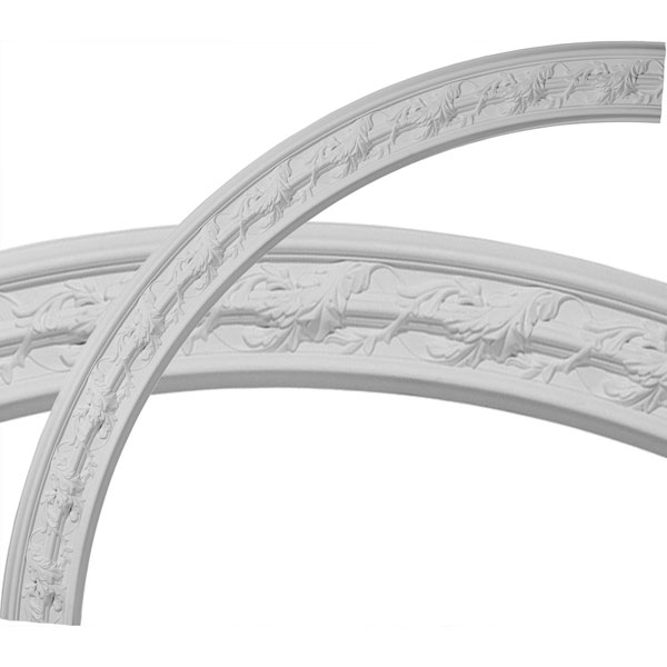 "66 3/4""OD x 58""ID x 4 3/8""W x 1""P Southampton Acanthus Leaf Ceiling Ring (1/4 of complete circle)"