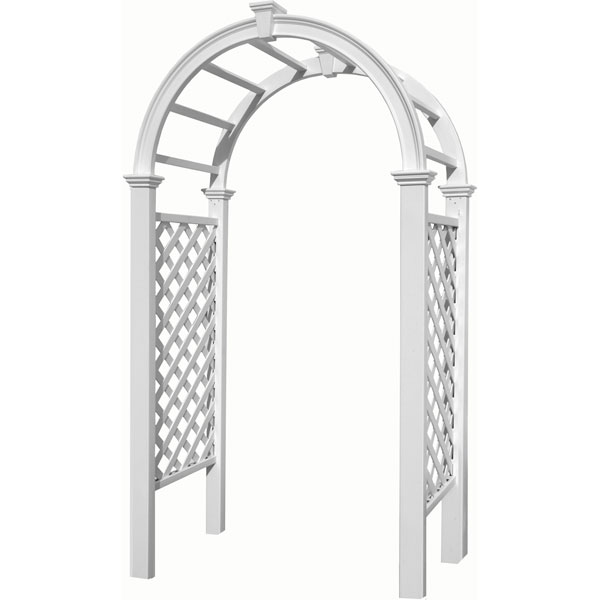 "49""W x 24""D x 91 1/2""H Livingston Arbor, White"