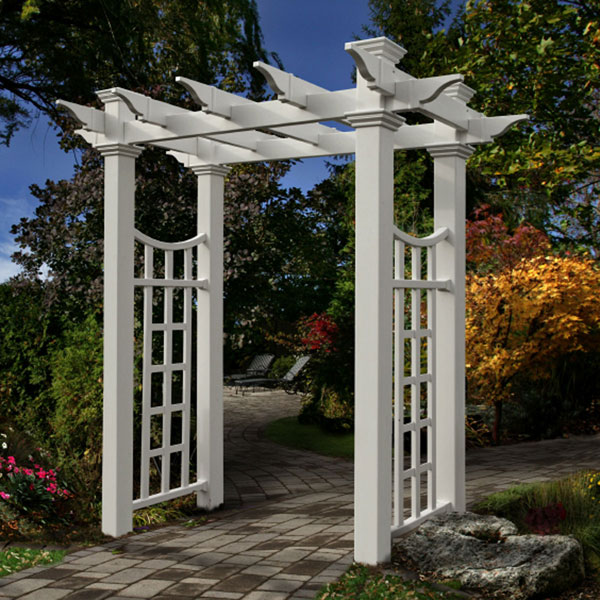 "58""W x 28""D x 92 1/2""H Fairfield Deluxe Arbor, White"