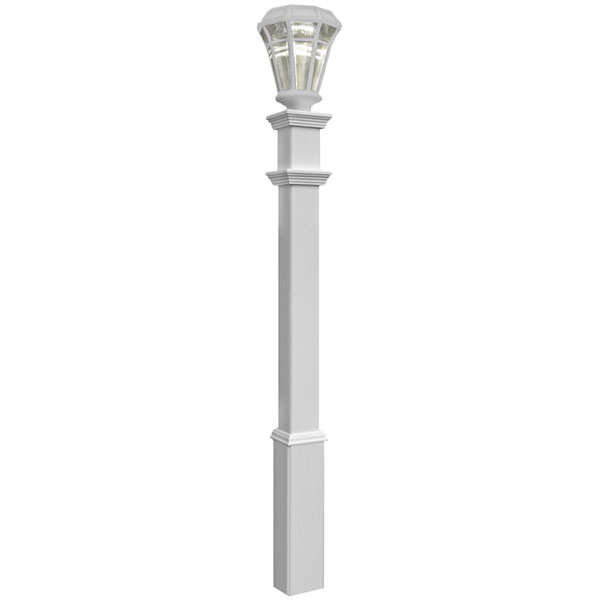 "6""W x 6""D x 72""H Sturbridge Light Post (Lamp not included), White"
