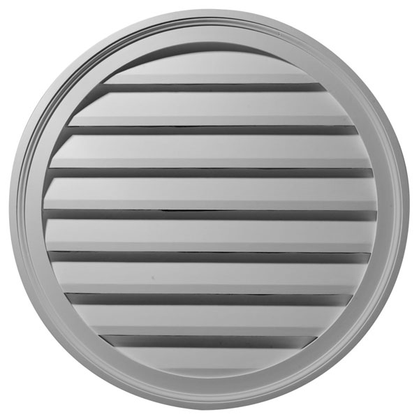 "36""W x 36""H x 2 5/8""P, Round Gable Vent Louver, Functional"
