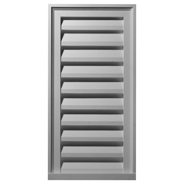"18""W x 36""H x 2 1/4""P, Vertical Gable Vent Louver, Decorative"