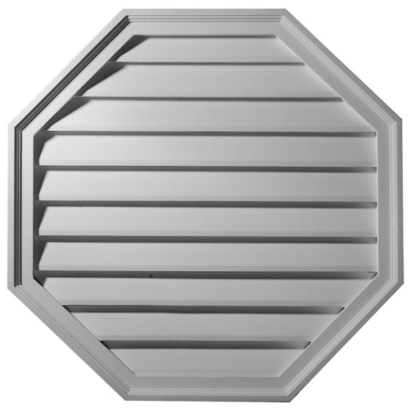 "30""W x 30""H x 2 1/2""P,  Octagon Gable Vent Louver, Functional"