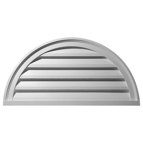 "40""W x 20""H x 2 1/4""P, Half Round Gable Vent Louver, Functional"