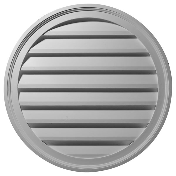 "36""W x 36""H x 2 3/8""P, Round Gable Vent Louver, Decorative"