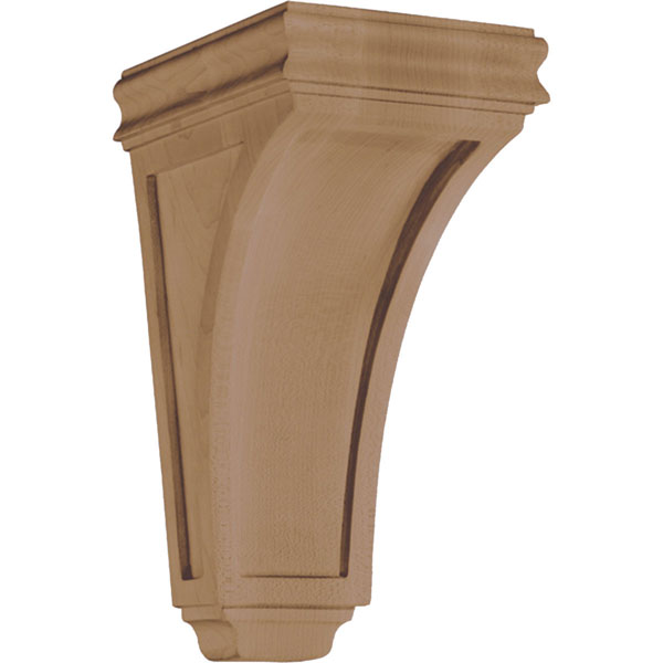 "4 3/4""W x 9 1/2""H x 5 3/4""D Corbel American Arts and Crafts Concave Small"