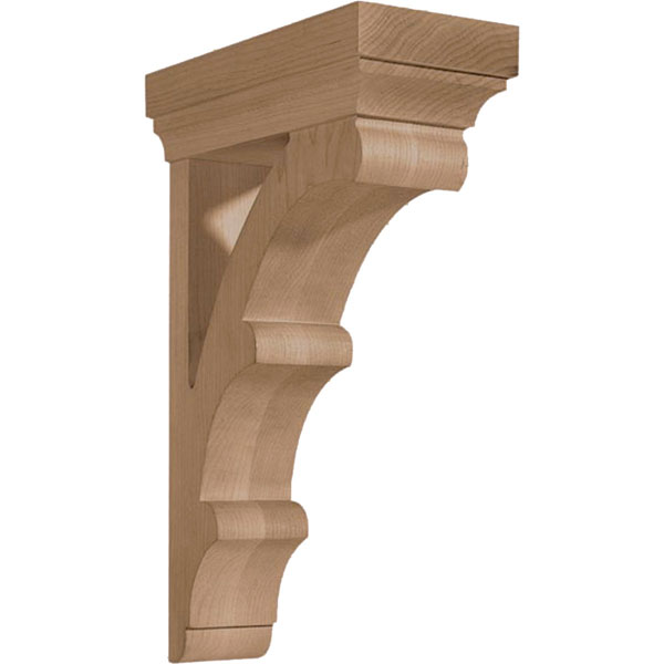 "3 3/4""W x 13""H x 8 1/2""D Corbel Americans Arts and Crafts Pierced"
