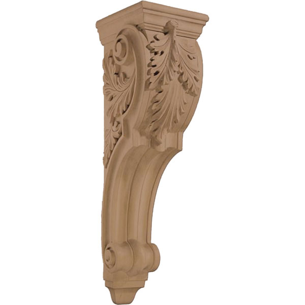"9""W x 34""H x 10 5/8""D Corbel Acanthus Extra Large"