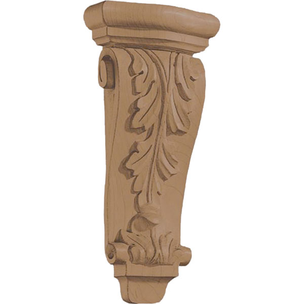 "4 5/8""W x 10""H x 1 3/4""D Corbel Acanthus Pilaster Small"