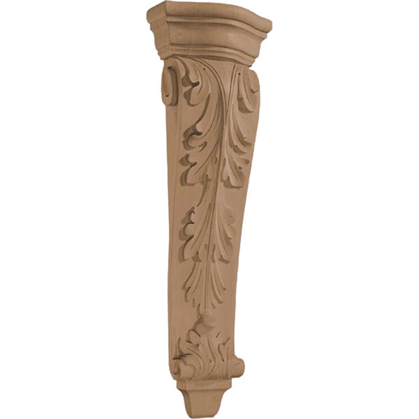 "7""W x 22""H x 3 1/4""D Corbel Acanthus Pilaster Large"