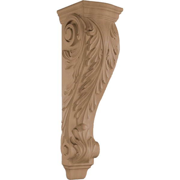 "9 1/2""W x 34""H x 10 1/2""D Corbel Acanthus Wide Extra Large"
