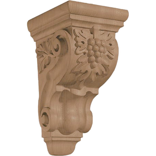 "4 3/4""W x 9 1/2""H x 5 3/4""D Corbel Grape Small"