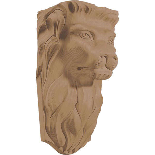 "6 1/2""W x 6 1/4""D x 6 1/4""TW x 5""TD x 12 1/2""H Corbel Lion Medium"