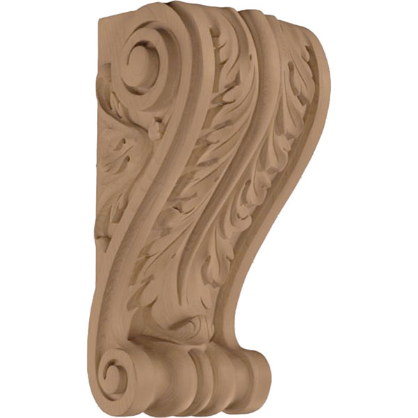"8""W x 14""H x 6""D Corbel Leaf Wide Medium"