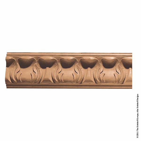 "5 1/4""W x 1 3/4""P, 6"" Repeat, Molding Acanthus Collection, 8' Length,"