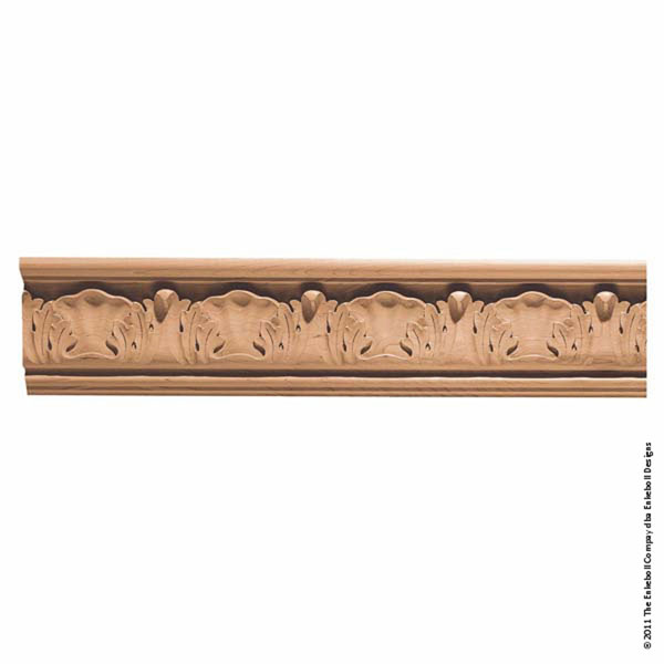 "5 3/4""W x 1 1/4""P, 6"" Repeat, Molding Acanthus Butt, 12' Length,"