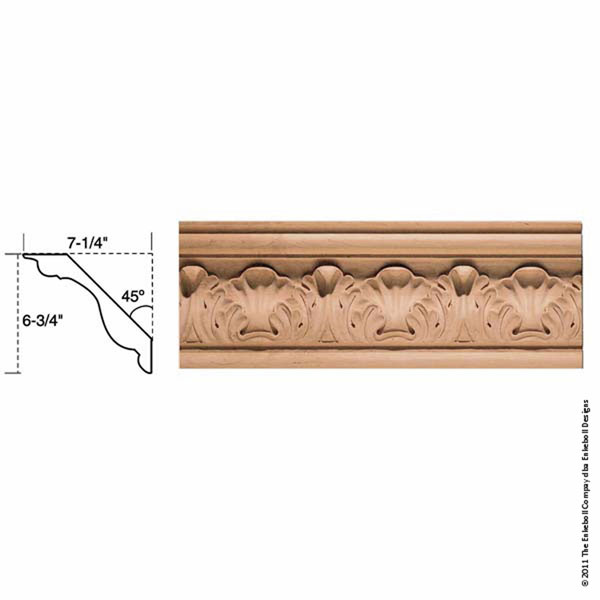 Enkeboll designs enkeboll designs mld ac9 6 3 4 inch w x 7 for 9 inch crown molding