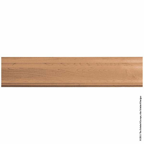 "3 3/8""W x 3""P Molding Plain Crown, 8' Length,"