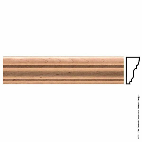 "2 3/4""W x 1 1/4""P Molding Plain Large, 8' Length,"