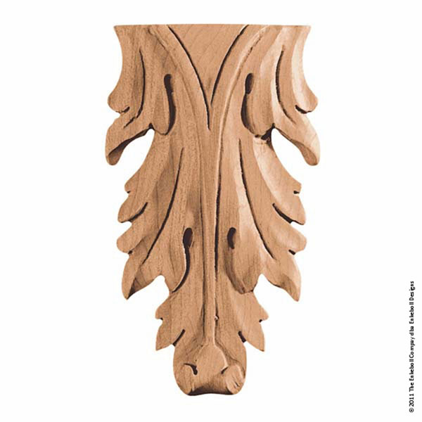 "3""W x 5""H x 3/4""P Onlay Acanthus Vertical Mini"