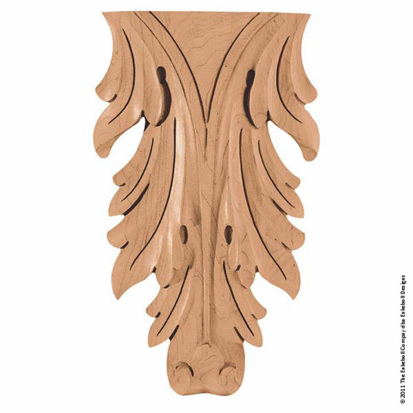"7""W x 12""H x 1 1/2""P Onlay Acanthus Vertical Large"