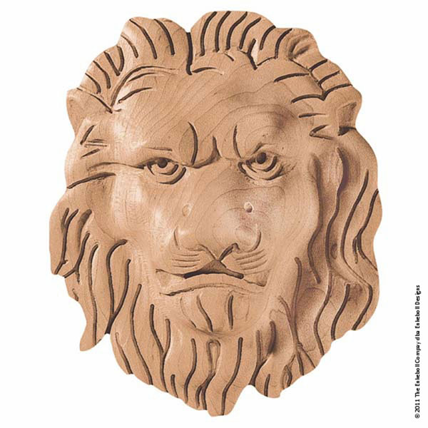 "5""W x 6""H x 1 1/2""P Onlay Lion Face Small"