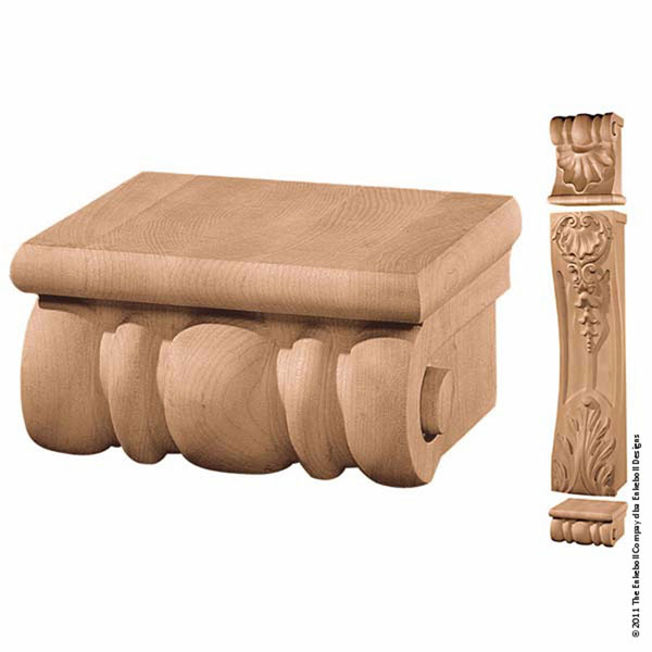 "7 7/8""W x 4""H x 6 3/4""D Plinth Villa Scroll"