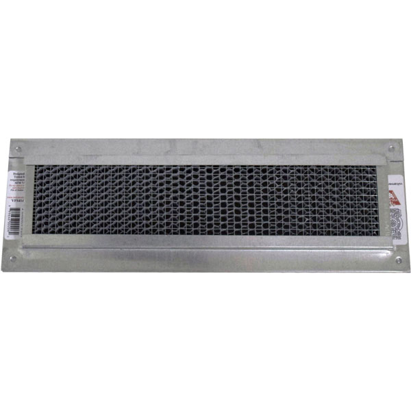 "4""H x 14""W (24 Sq. In. Venting Area) Vulcan Fire Stopping Foundation or Soffit Vent for Stucco, Galvanized Steel"