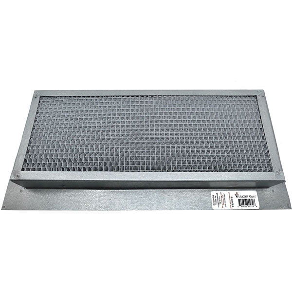 "8""H x 14""W (62 Sq. In. Venting Area) Vulcan Fire Stopping Foundation/Soffit Vent Surface Flange, Galvanized Steel"