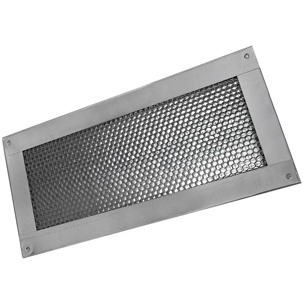 "6""H x 14""W (41 Sq. In. Venting Area) Vulcan Fire Stopping Foundation/Soffit Vent Surface Flange, Galvanized Steel"