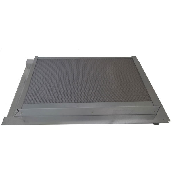 "14""W x 24""H (102 Sq. In. Venting Area) Vulcan Fire Stopping Gable Vent for Stucco, Galvanized Steel"